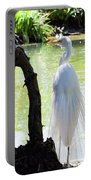 Ethereal Snowy Egret Portable Battery Charger