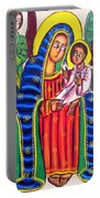 Ethiopian Mary And Jesus Portable Battery Charger