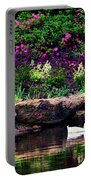 Ethreal Beauty At The Azalea Pond Portable Battery Charger