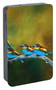 European Bee Eaters Portable Battery Charger