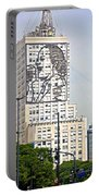 Eva Peron Outlined On The Wall Of A Skyscraper On July Nine Avenue  In Buenos Aires-argentina Portable Battery Charger
