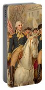 Evacuation Day And Washington's Triumphal Entry In New York City Portable Battery Charger