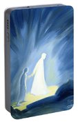 Even In The Darkness Of Out Sufferings Jesus Is Close To Us Portable Battery Charger