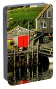 Evening At Peggys Cove Portable Battery Charger