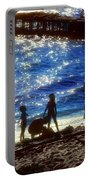 Evening At The Beach Portable Battery Charger