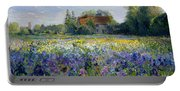 Evening At The Iris Field Portable Battery Charger