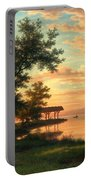Evening Atmosphere By The Lakeside Portable Battery Charger