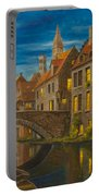 Evening In Brugge Portable Battery Charger