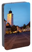 Evening In Sibiu's Grand Square Portable Battery Charger