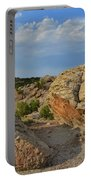 Evening Light On Boulders Of Bentonite Site Portable Battery Charger