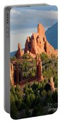 Evening Light On Garden Of The Gods Portable Battery Charger