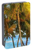 Evening Palms In Trade Winds Portable Battery Charger