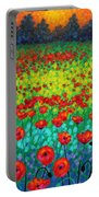 Evening Poppies Portable Battery Charger