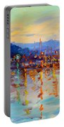 Evening Reflections In Piermont Dock Portable Battery Charger