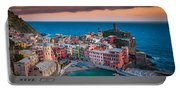 Evening Rolls Into Vernazza Portable Battery Charger
