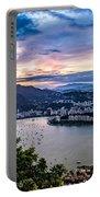 Evening Sky Over Rio De Janeiro Portable Battery Charger