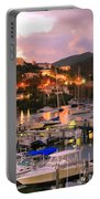 Evening Twilight At Oyster Pond, St. Martin Portable Battery Charger