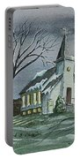 Evening Worship In Winter Portable Battery Charger