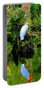 Everglades Egret Portable Battery Charger