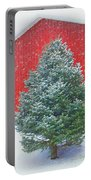 Evergreen In Winter #1 Portable Battery Charger