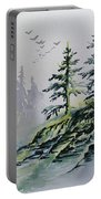 Evergreens In The Mist Portable Battery Charger