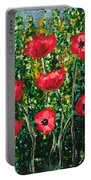 Every Dream Turns Up Poppies Portable Battery Charger