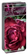 Everything's Coming Up Roses Portable Battery Charger