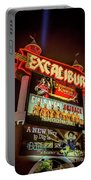 Excalibur Casino Sign Night Portable Battery Charger