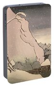Exiled Buddhist Cleric Nichiren In The Snow Portable Battery Charger