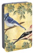 Exotic Bird Floral And Vine 1 Portable Battery Charger