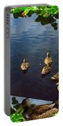 Exotic Birds Of America Ducks In A Pond Portable Battery Charger