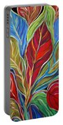 Exotic Foliage Portable Battery Charger