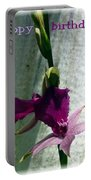 Exotic Purple Birthday Wishes Portable Battery Charger