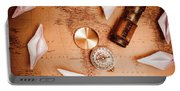 Explorer Desk With Compass, Map And Spyglass Portable Battery Charger