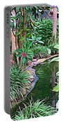Expressionalism Beautiful Garden  Portable Battery Charger