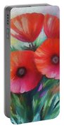 Expressionist Poppies Portable Battery Charger
