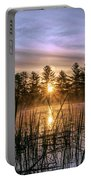 Exquisite Sunrise On The Androscoggin River 2 Portable Battery Charger