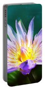 Exquisite Waterlily Portable Battery Charger