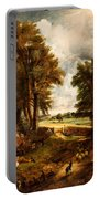 Extensive Landscape With Boy Drinking Water Portable Battery Charger