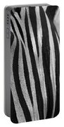Extreme Close Up Of A Zebra Portable Battery Charger