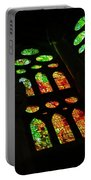 Exuberant Stained Glass Windows Portable Battery Charger