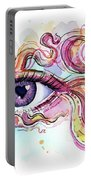 Eye Fish Surreal Betta Portable Battery Charger