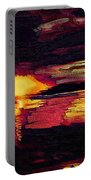Eye In The Sky Sunset Art Portable Battery Charger