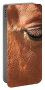 Eyelashes - Horse Close Up Portable Battery Charger