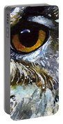 Eyes Of Owls No.25 Portable Battery Charger