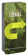 Ezekiel Books Of The Bible Series Old Testament Minimal Poster Art Number 26 Portable Battery Charger