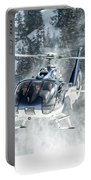 F-hana Eurocopter Ec-130 Landing Helicopter At Courchevel Portable Battery Charger
