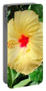 F12 Yellow Hibiscus Portable Battery Charger