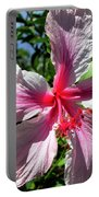 F17 Pink Hibiscus Portable Battery Charger