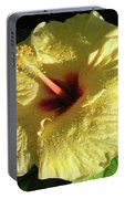 F9 Yellow Hibiscus Portable Battery Charger